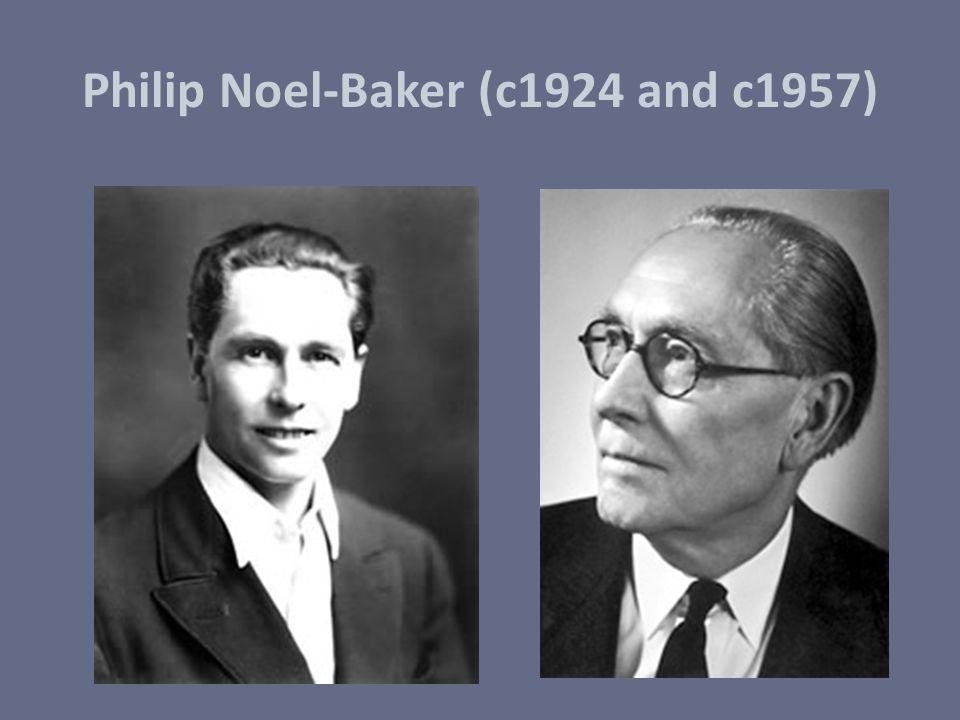 Philip Noel-Baker (c1924 and c1957)