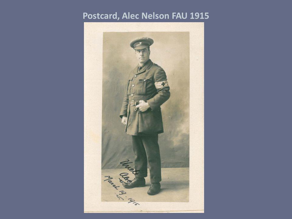 Postcard, Alec Nelson FAU 1915