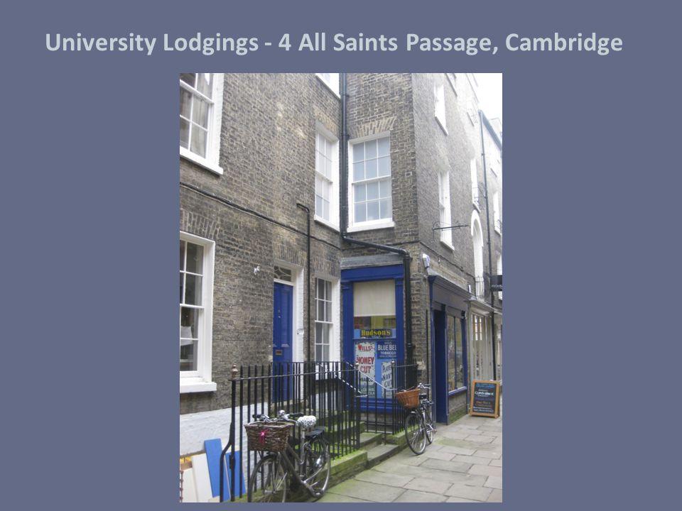 University Lodgings - 4 All Saints Passage, Cambridge