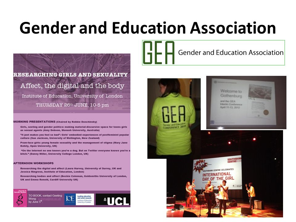 Gender and Education Association 16