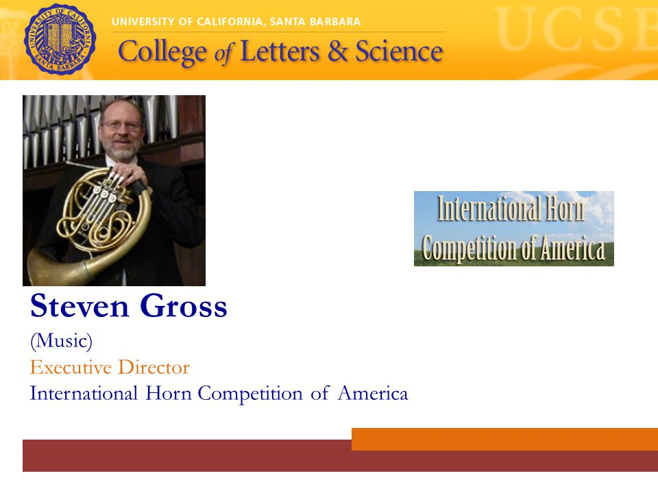 Steven Gross (Music) Executive Director International Horn Competition of America