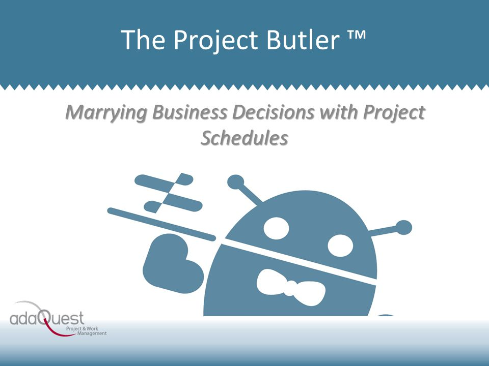 Marrying Business Decisions with Project Schedules Company Overview The Project Butler ™