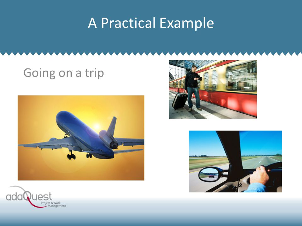 Going on a trip Company Overview A Practical Example