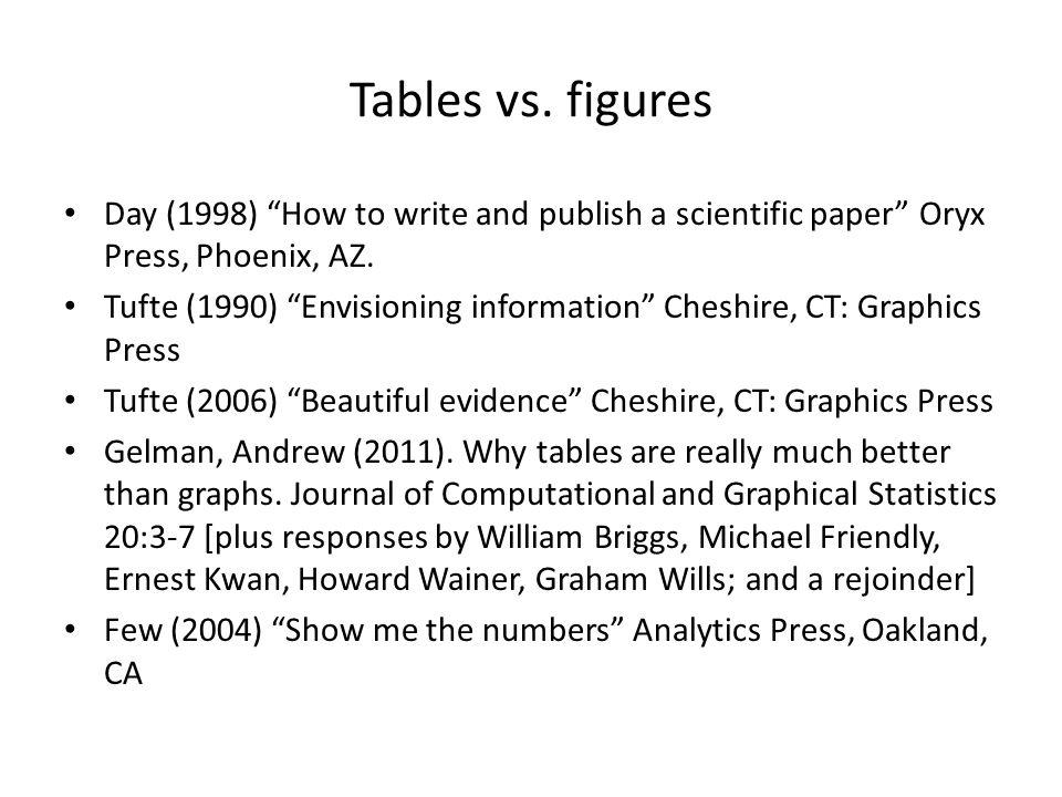 Tables vs.