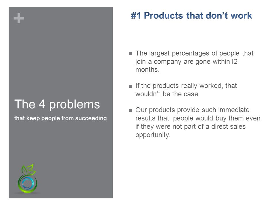 + The 4 problems that keep people from succeeding
