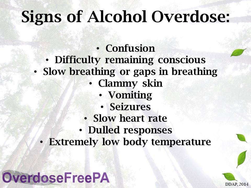 Signs of Amphetamine/Other Stimulant ( Speed ) Overdose: Amphetamine-induced psychosis – (paranoia, hallucinations and/or delusions) Overheating Dehydration High blood pressure Seizures DDAP, 2014