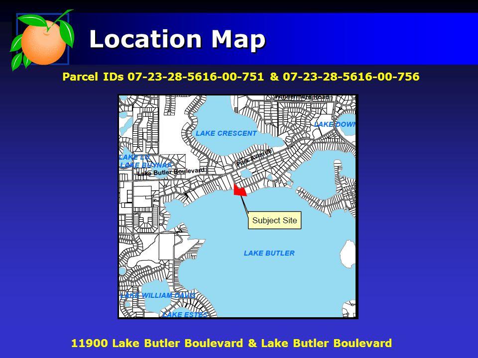 Location Map Parcel IDs 07-23-28-5616-00-751 & 07-23-28-5616-00-756 11900 Lake Butler Boulevard & Lake Butler Boulevard