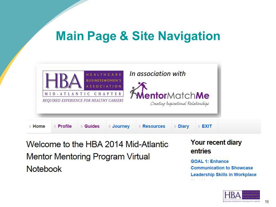 16 Main Page & Site Navigation
