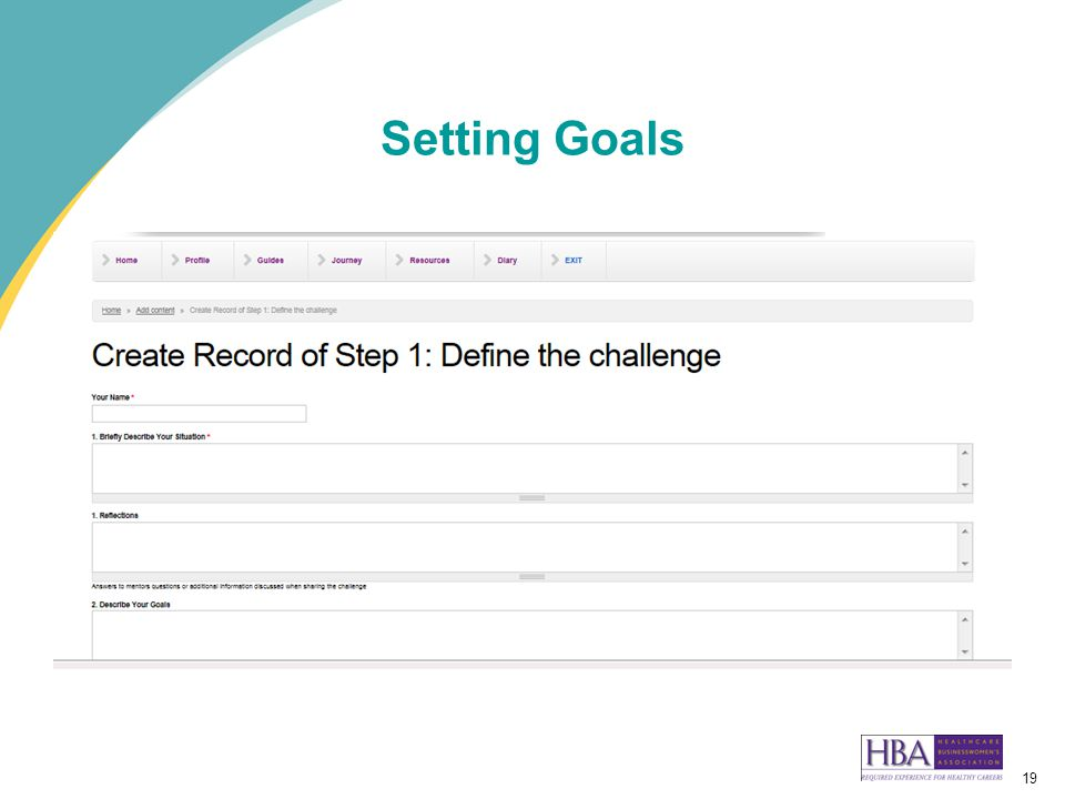 19 Setting Goals