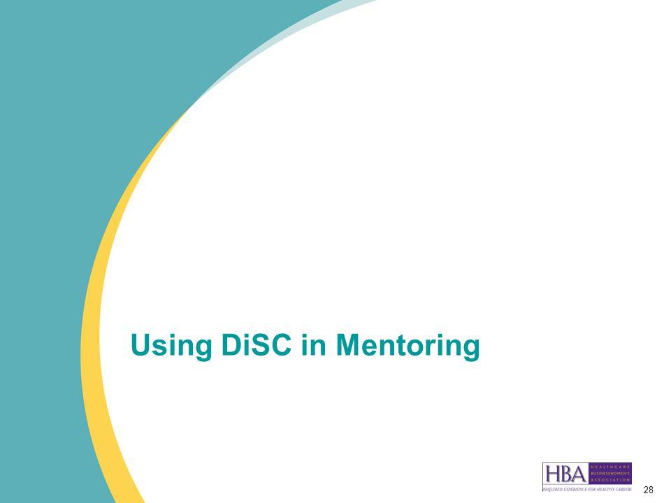 28 Using DiSC in Mentoring