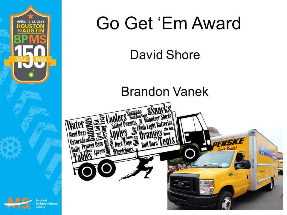 Go Get 'Em Award David Shore Brandon Vanek