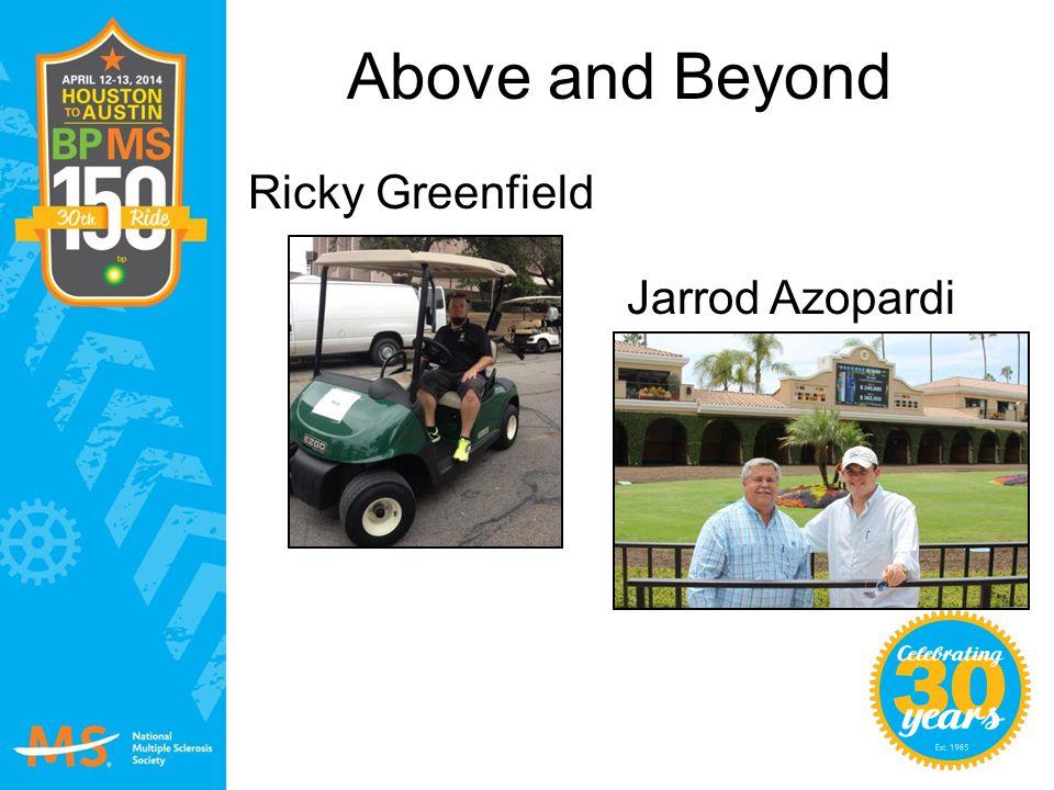 Above and Beyond Ricky Greenfield Jarrod Azopardi