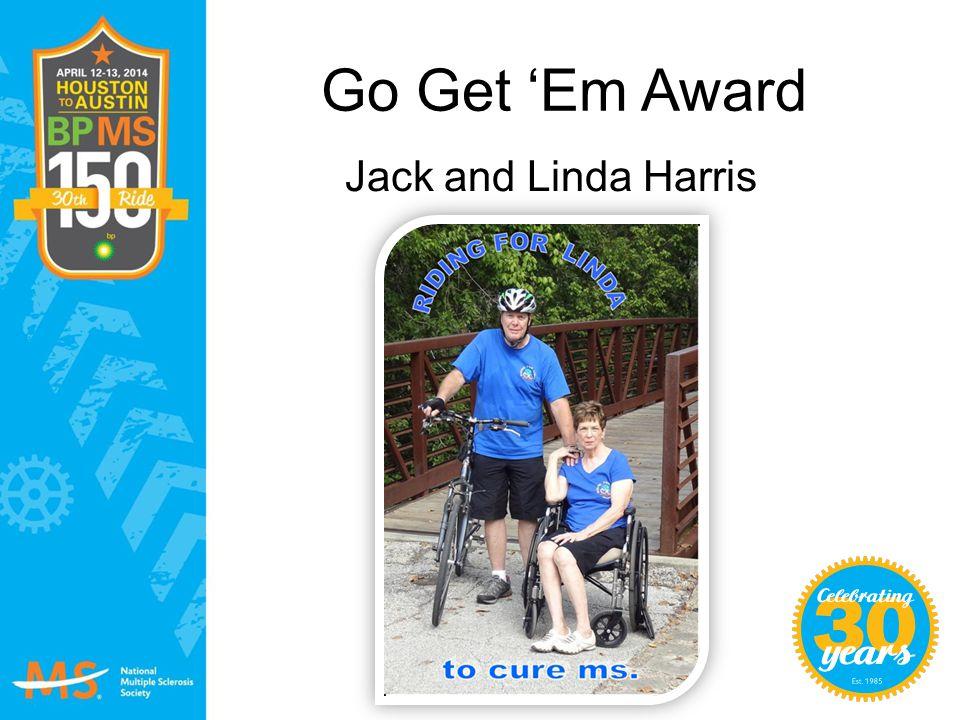 Go Get 'Em Award Jack and Linda Harris