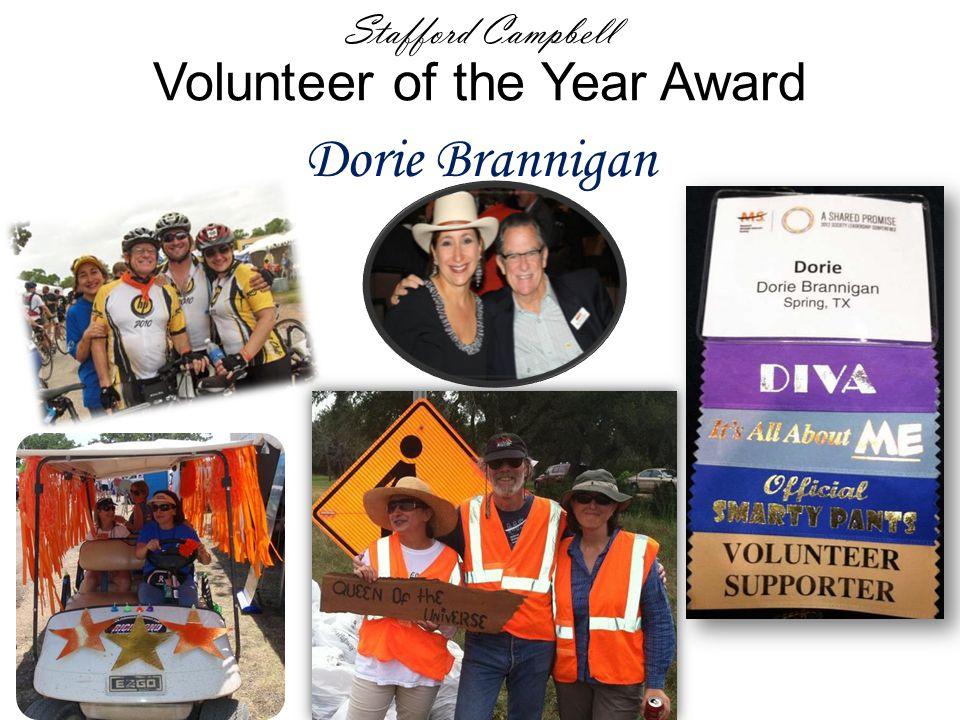 Stafford Campbell Volunteer of the Year Award Dorie Brannigan