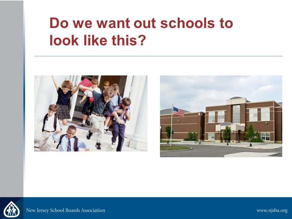 Do we want out schools to look like this?