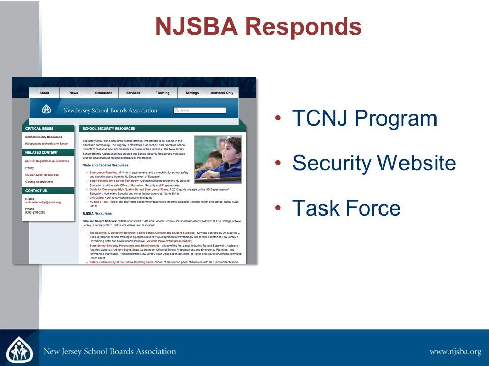 NJSBA Responds TCNJ Program Security Website Task Force
