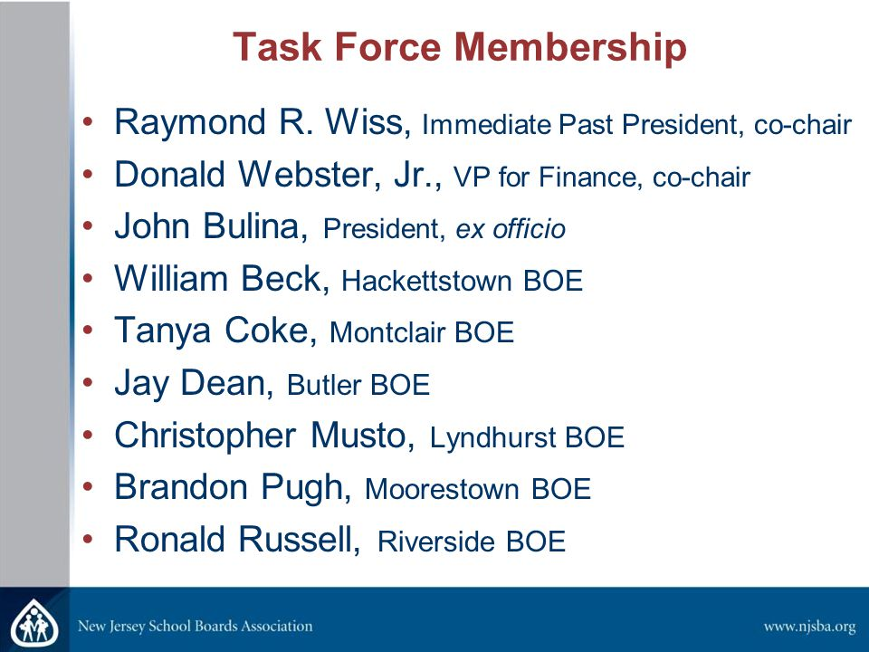 Task Force Membership Raymond R.