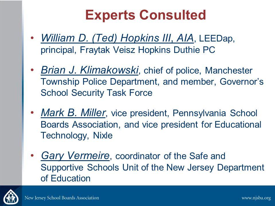 Experts Consulted William D.