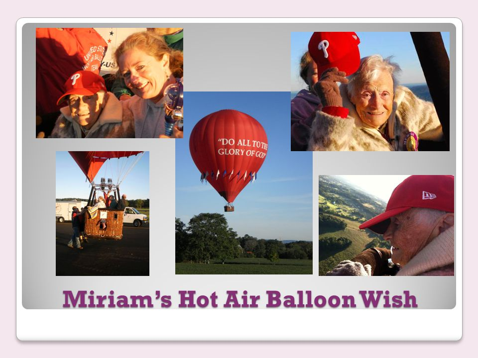 Miriam's Hot Air Balloon Wish