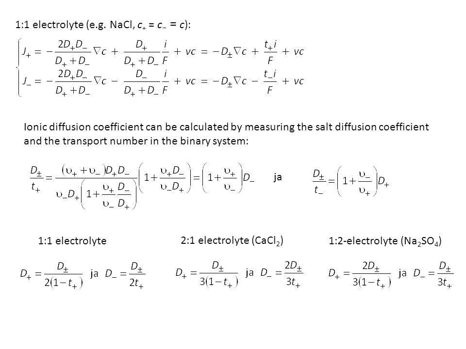 1:1 electrolyte (e.g.