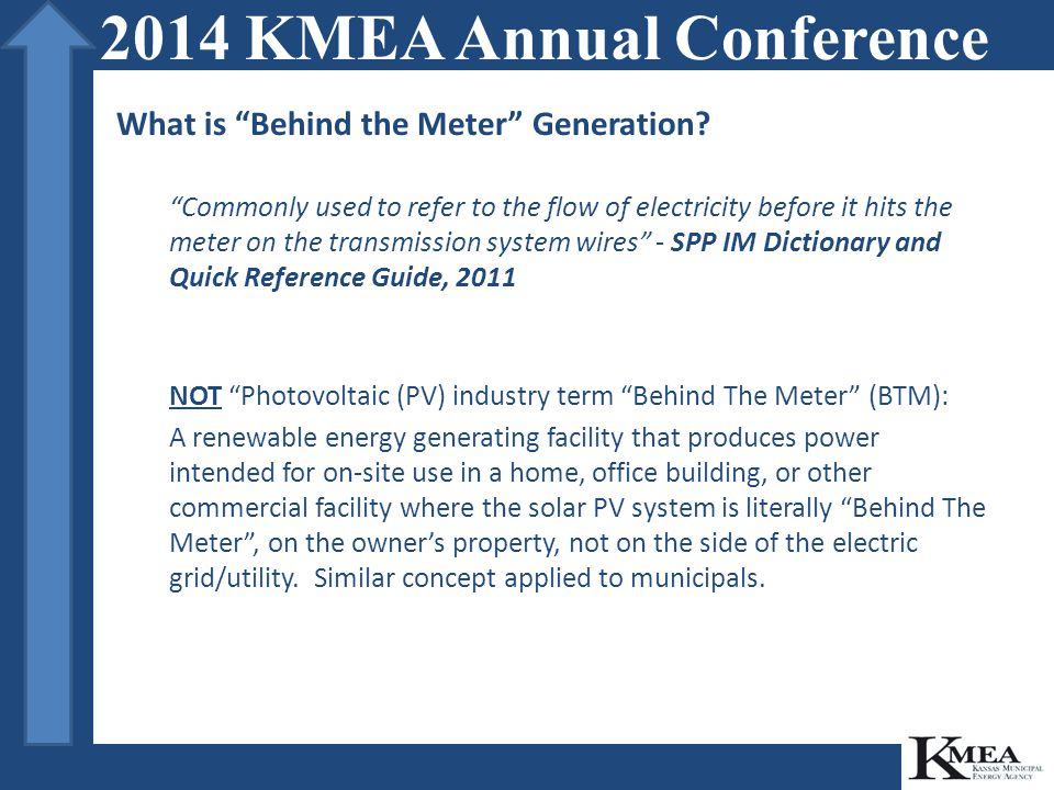 What is Behind the Meter Generation for Municipalities.