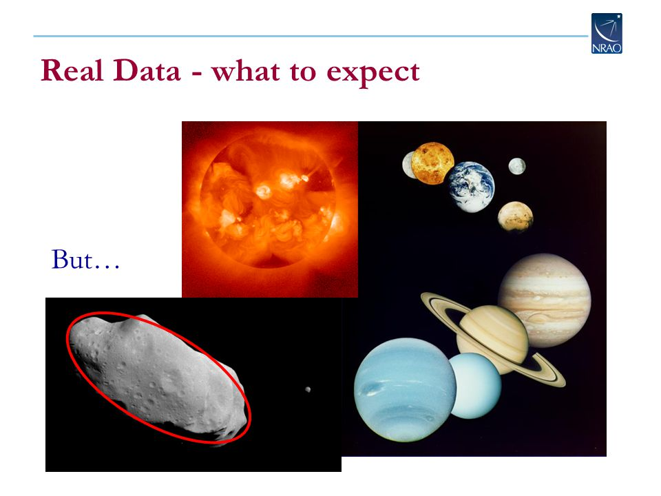 They're all round! Real Data - what to expect But…