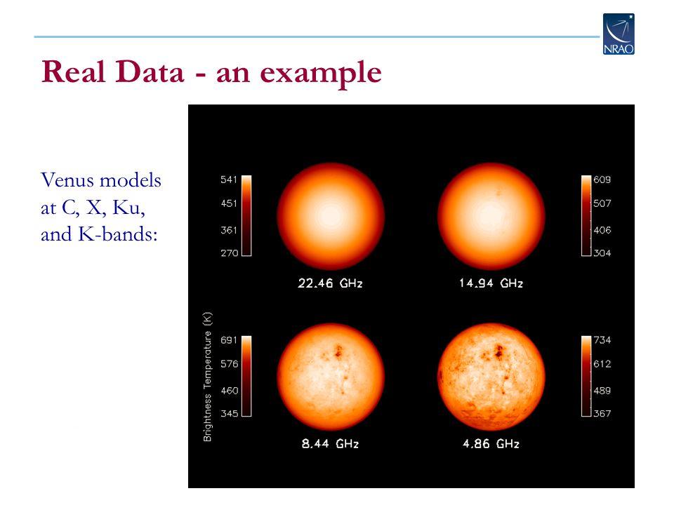 Real Data - an example Venus models at C, X, Ku, and K-bands: