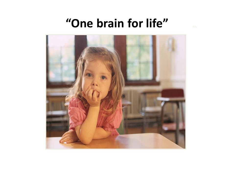 """""""One brain for life"""" Als"""