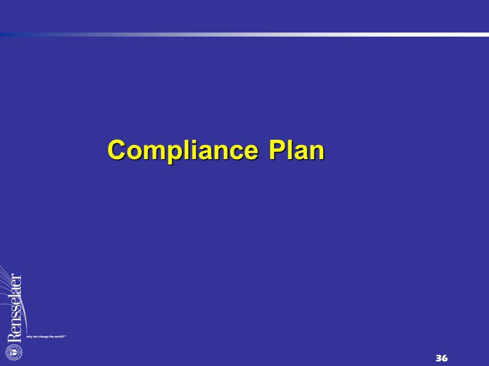 36 Compliance Plan