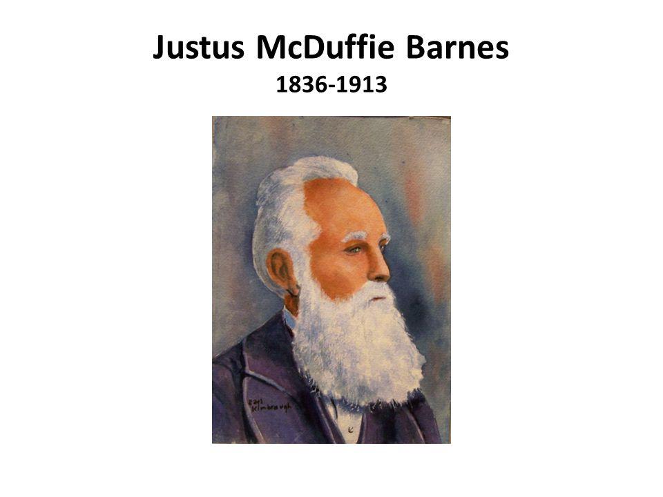 Justus McDuffie Barnes 1836-1913