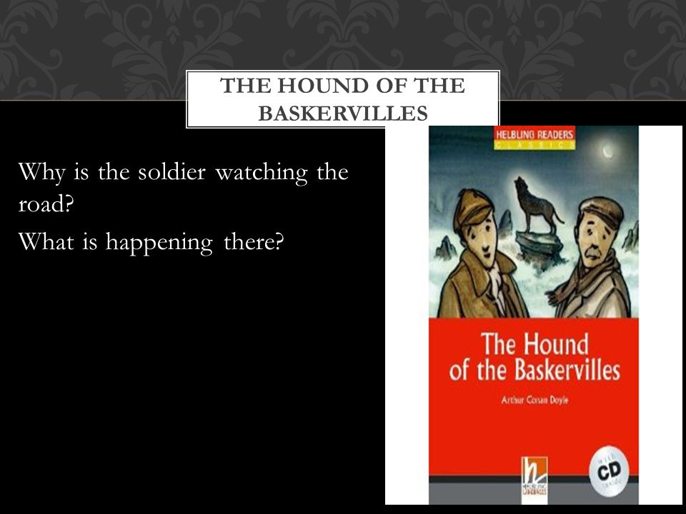 THE HOUND OF THE BASKERVILLES Why is the soldier watching the road What is happening there