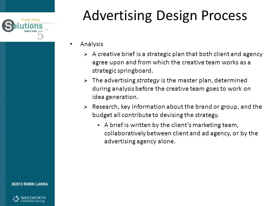 Advertising Design Process Conceptual Design  An advertising idea is the creative conceptual solution to an advertising problem—a strategic formulated thought that communicates a message, calling people to action.