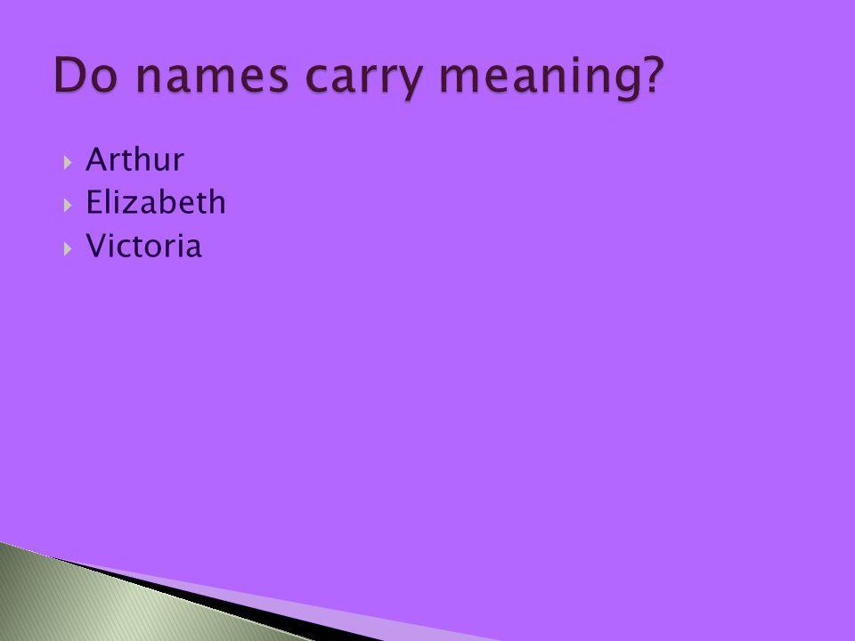  Arthur  Elizabeth  Victoria
