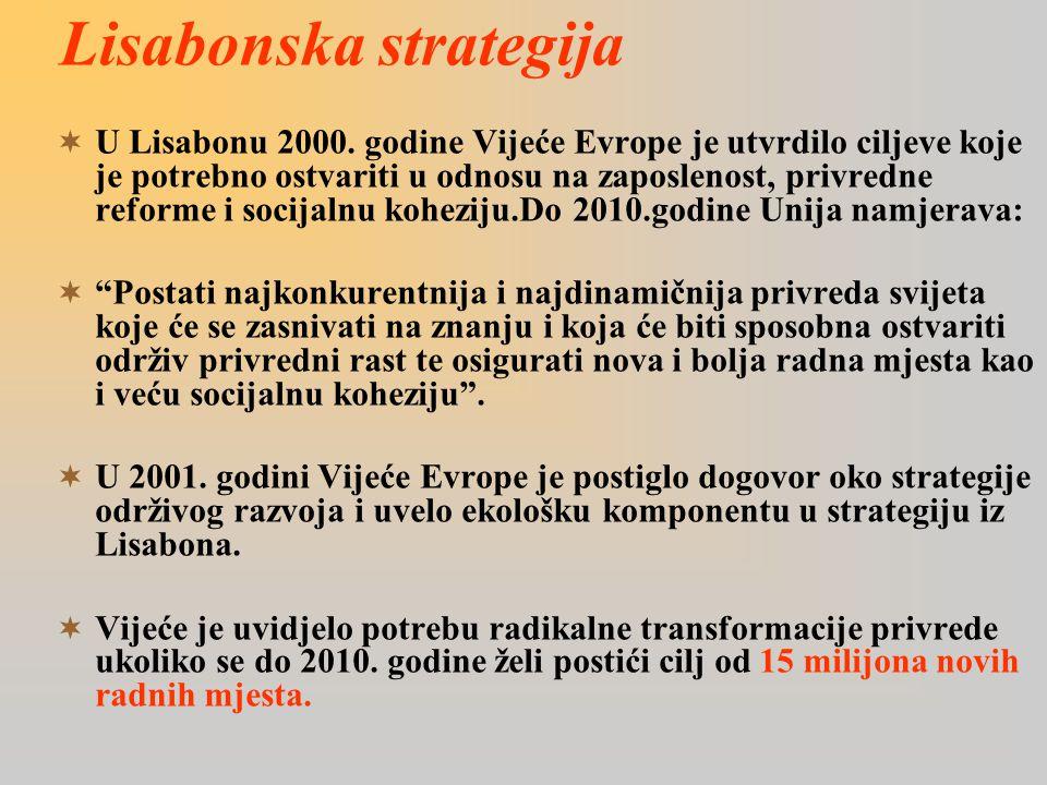 Lisabonska strategija  U Lisabonu 2000.