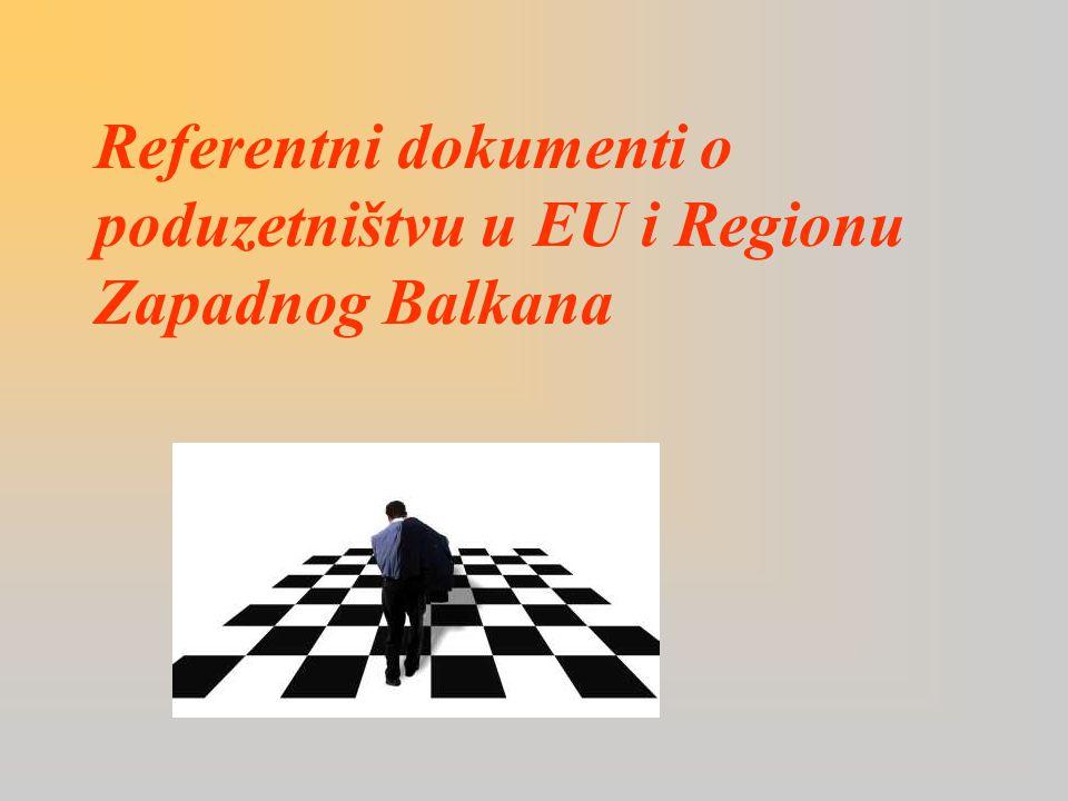 Referentni dokumenti o poduzetništvu u EU i Regionu Zapadnog Balkana