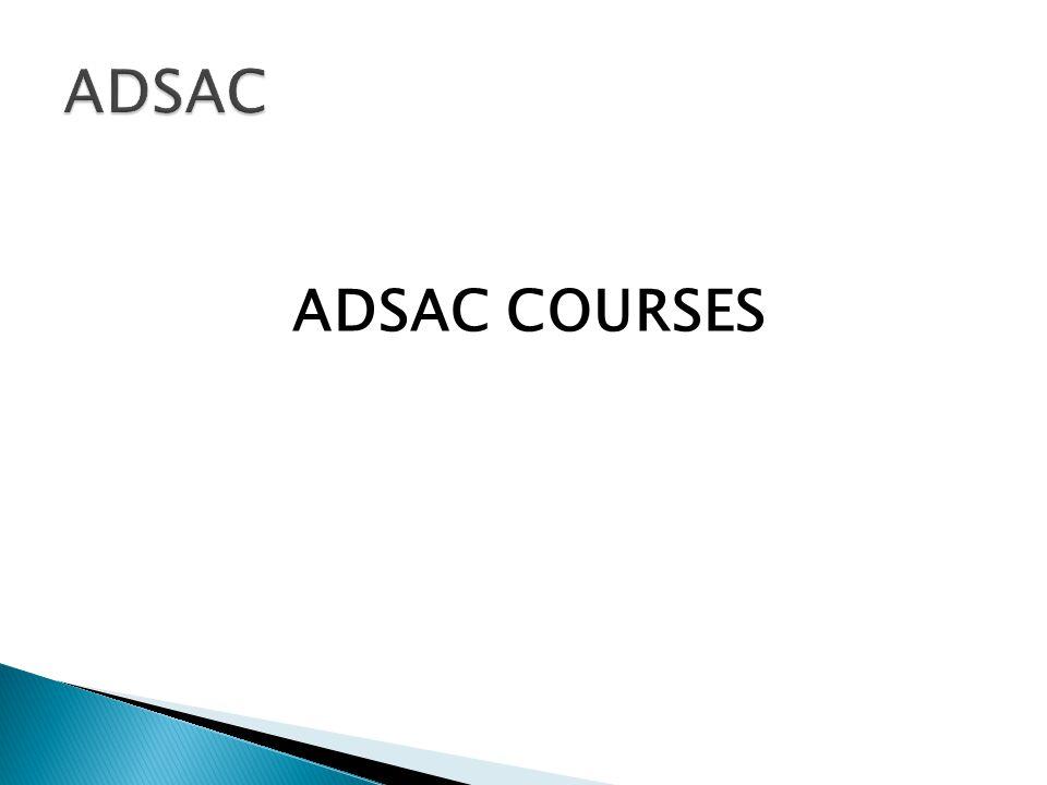 ADSAC COURSES