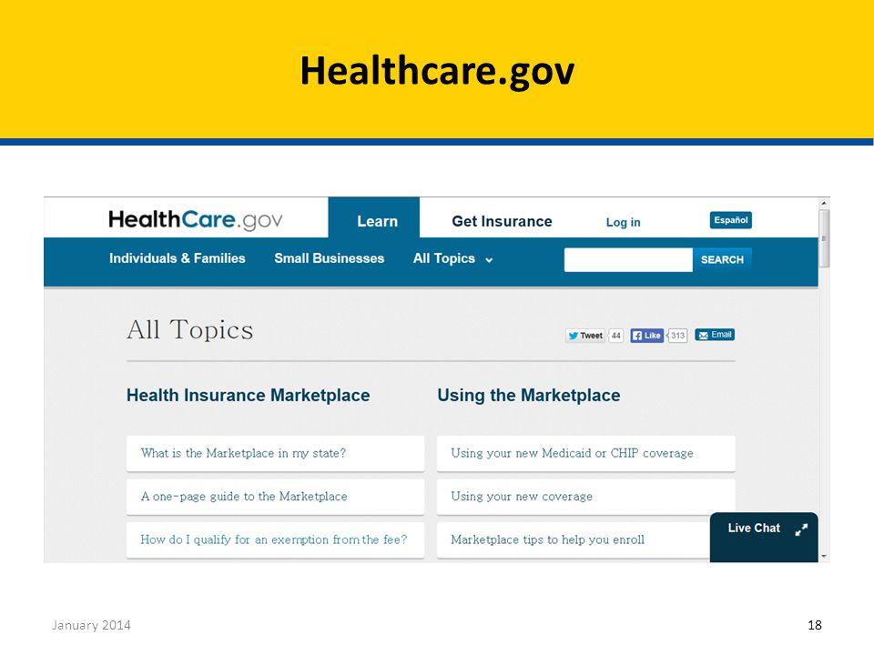 Healthcare.gov January 201418