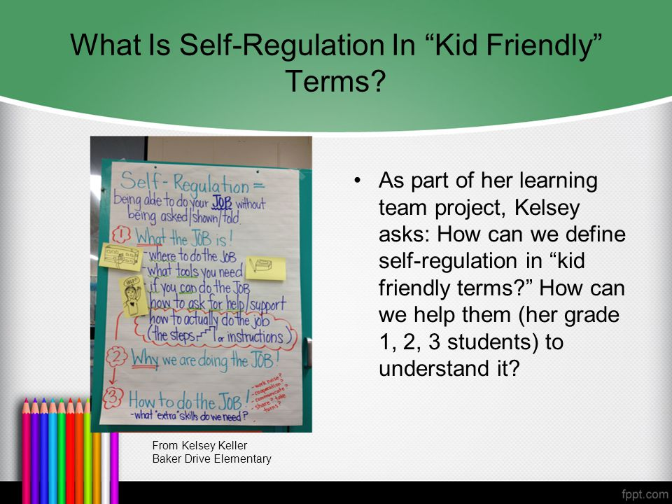 What Is Self-Regulation In Kid Friendly Terms.