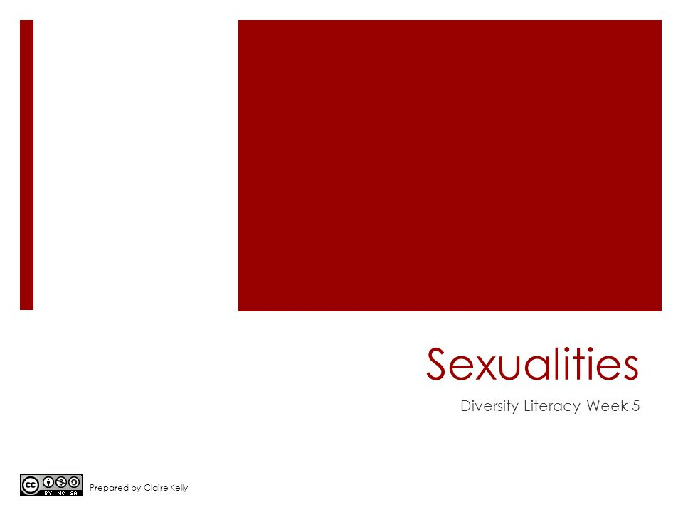 Sexualities Diversity Literacy Week 5 Prepared by Claire Kelly