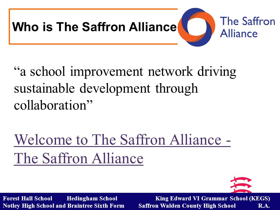 Who is The Saffron Alliance.