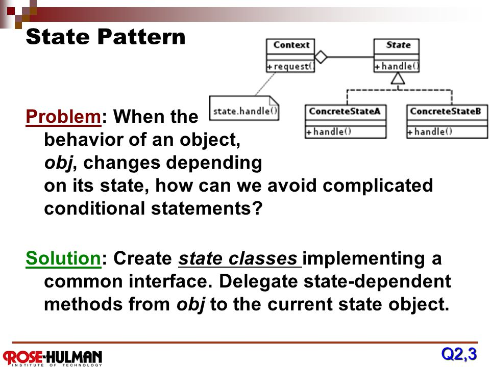 Transactional States & the State Pattern New [new (not from DB)] Old Clean OldDeleteDeleted [from DB] save delete rollback / reload commit / insert co
