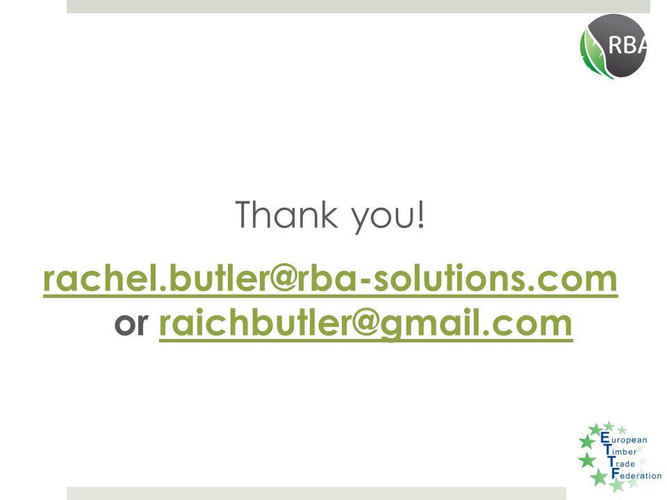 Thank you! rachel.butler@rba-solutions.com rachel.butler@rba-solutions.com or raichbutler@gmail.comraichbutler@gmail.com