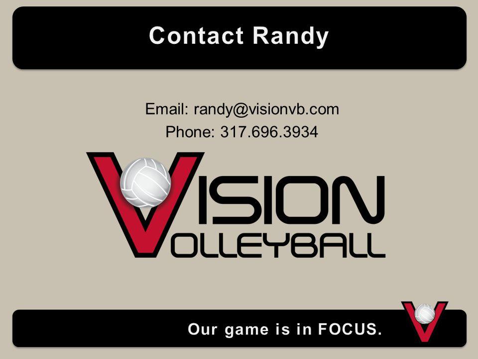 Email: randy@visionvb.com Phone: 317.696.3934