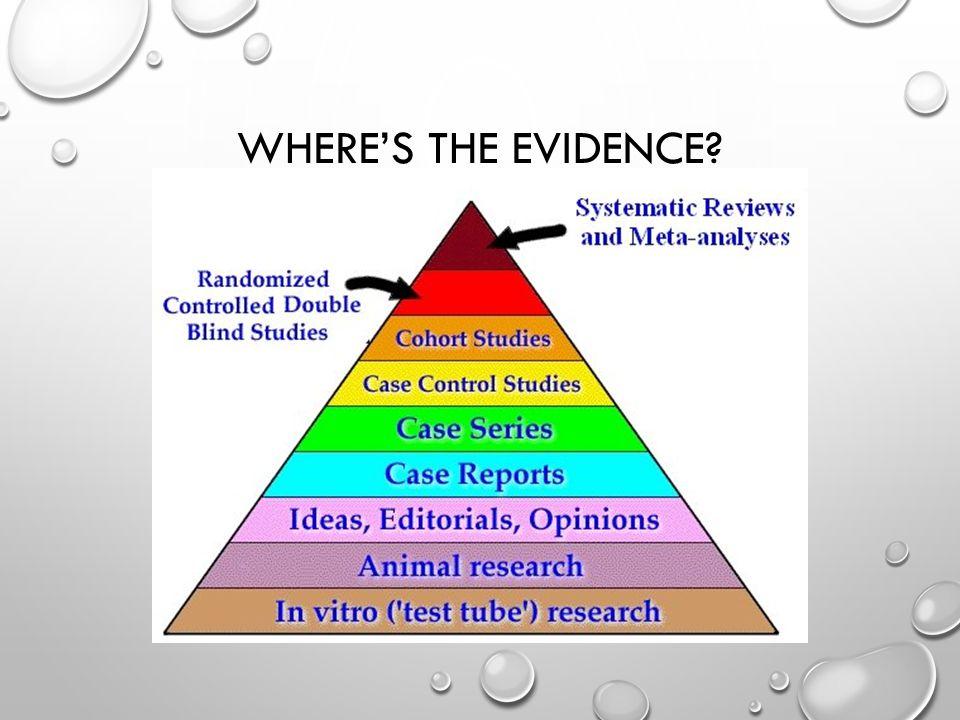 WHERE'S THE EVIDENCE
