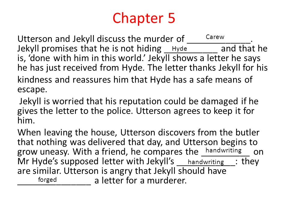 Chapter 5 Utterson and Jekyll discuss the murder of _____________.