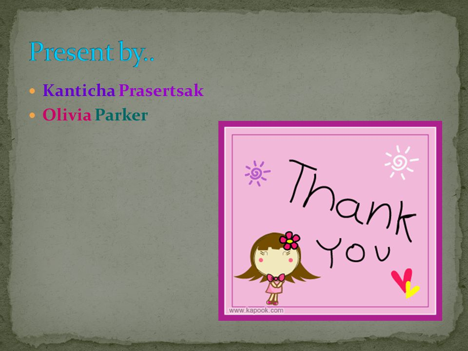 Kanticha Prasertsak Olivia Parker