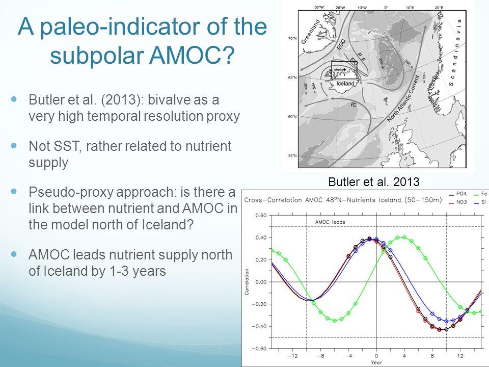 A paleo-indicator of the subpolar AMOC. Butler et al.