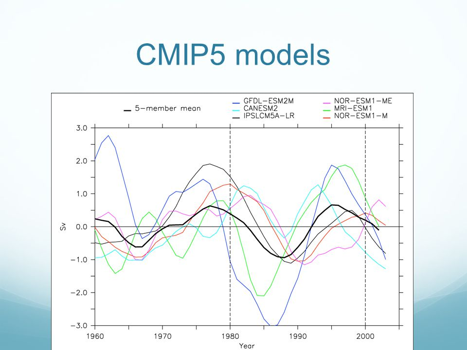 CMIP5 models