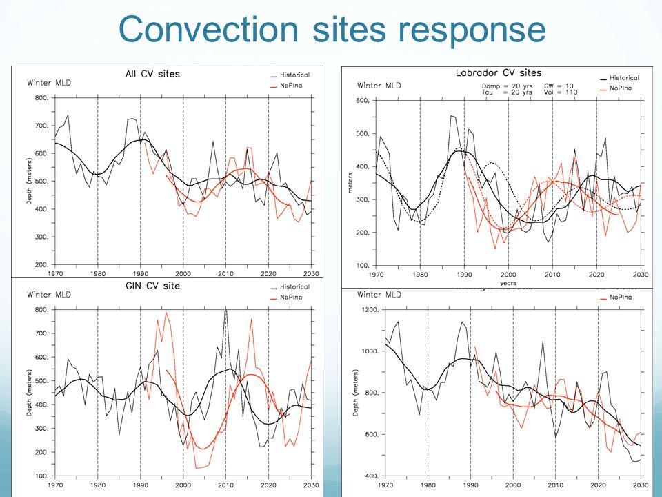 Convection sites response