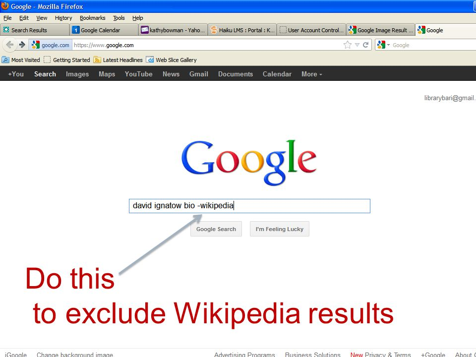 Do this to exclude Wikipedia results